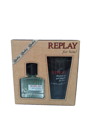 REPLAY For Him! Men Set 30 ml edt + 50 ml sprchový gel